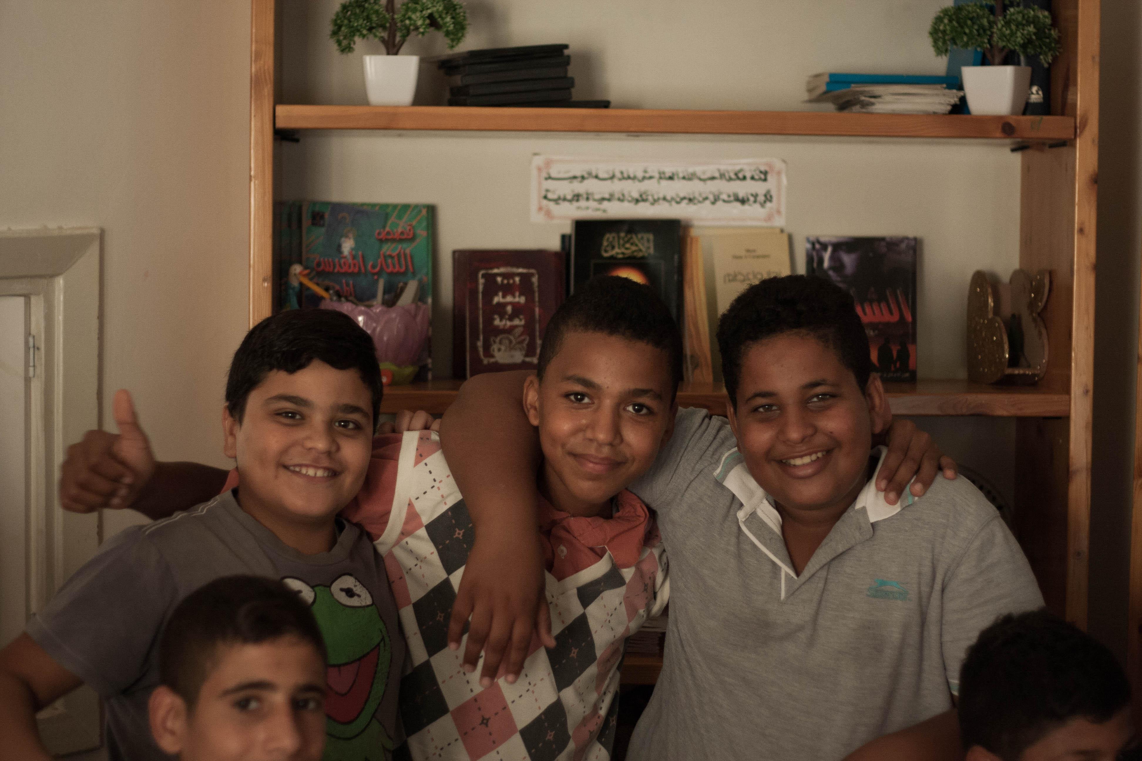 Palæstinensiske drenge vi spillede paintball med